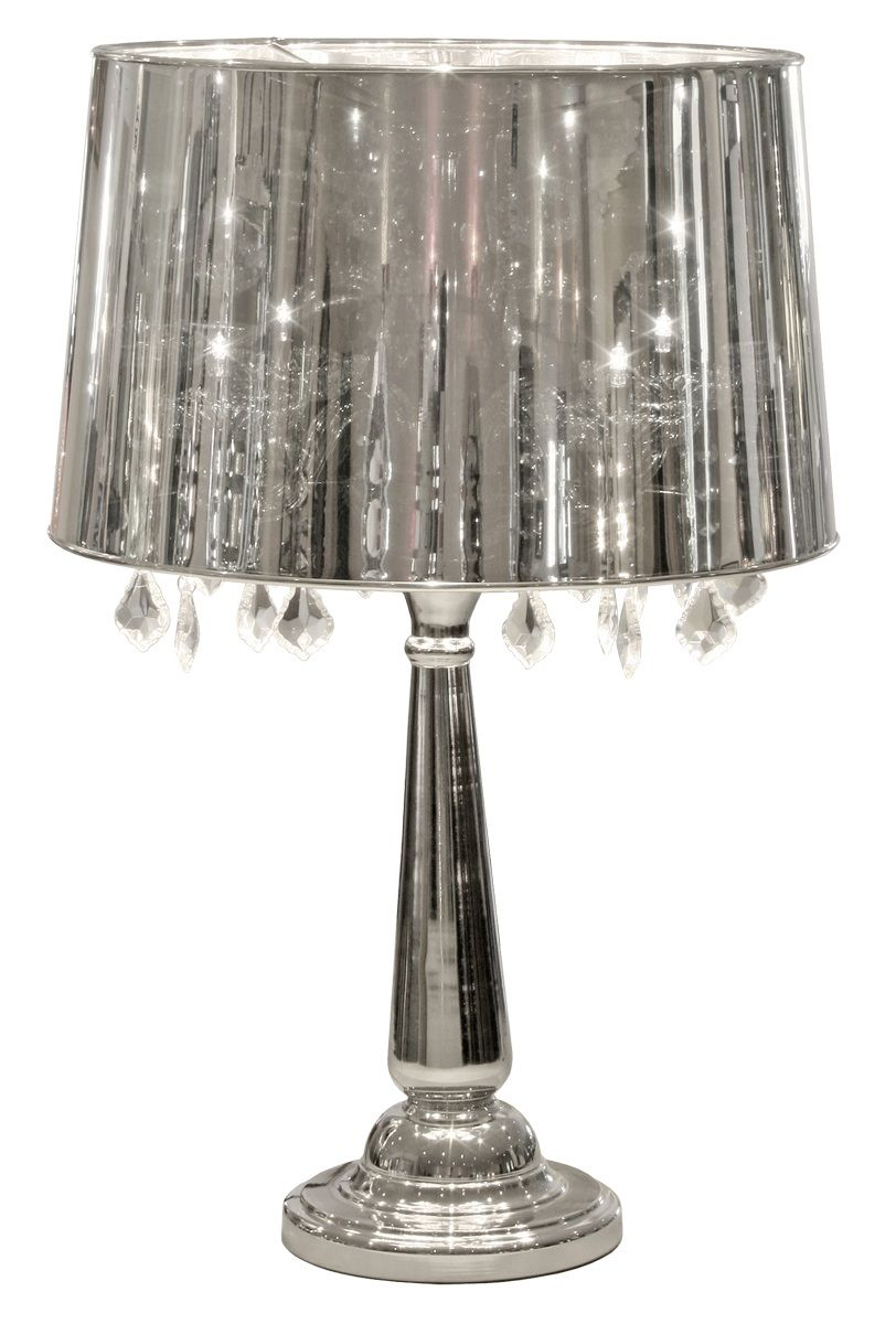 Silver Lamp Shades Mesmerizing Febland Silver Shade Table Lamp  Room And Lights Inspiration Design