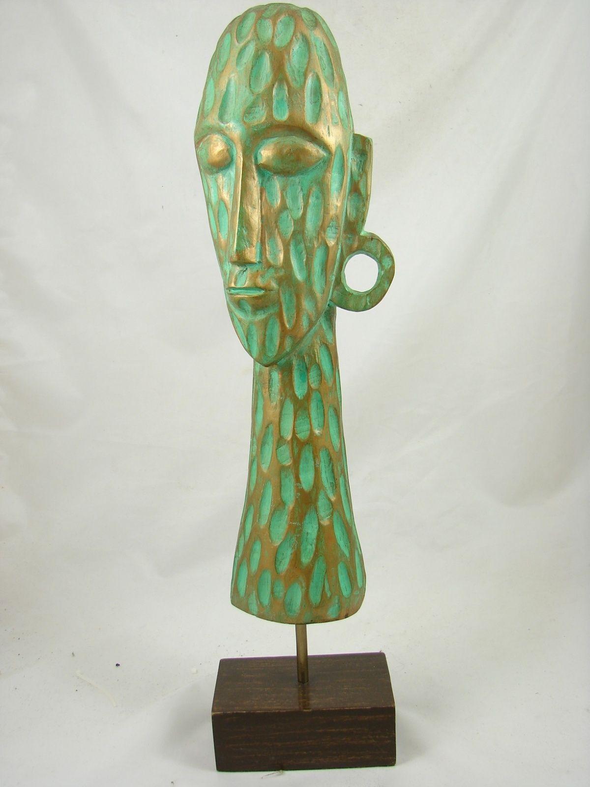 Figurka Rzezba Glowa Drewno 52 Cm 6347950929 Oficjalne Archiwum Allegro Novelty Lamp Table Lamp Decor