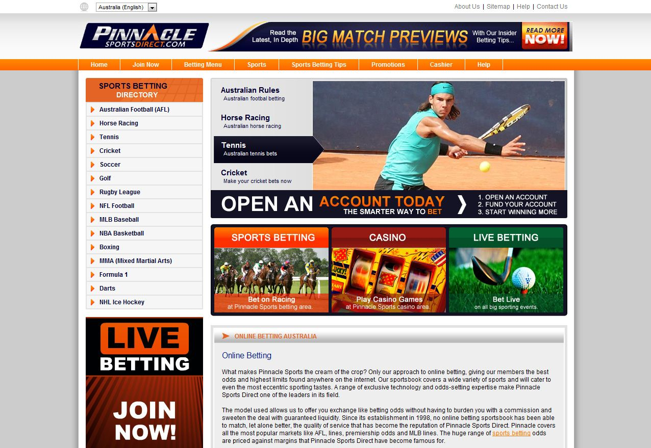 Pinnacle Sports Direct http//www.pinnaclesportsdirect