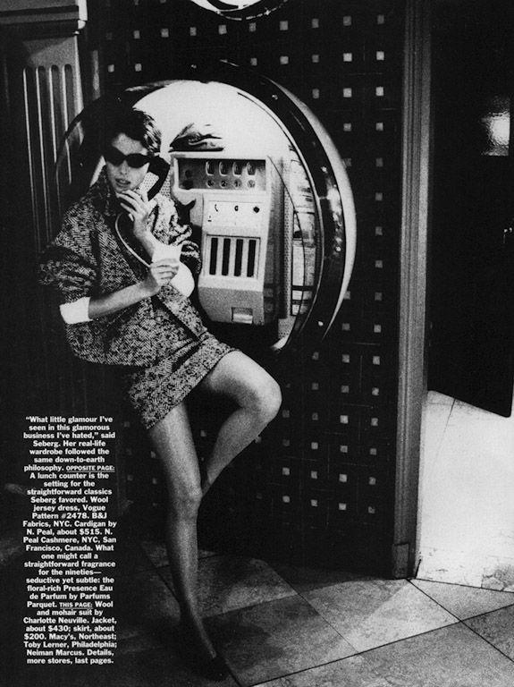 """Ellen von Unwerth """"Jean Seberg"""" (US Vogue editorial 1990 inspirado en película """" Al final de la escapada"""")"""