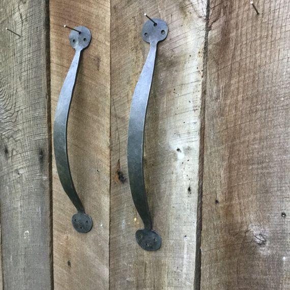 hand forged barn door pulls iron door handle watermill