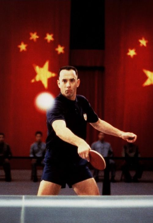 Forrest Gump in China  Ping Pong Diplomacy at it's finest - for