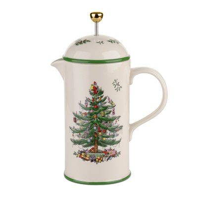 Spode Christmas Tree 75-Cup Cafetiere French Press Coffee Maker in