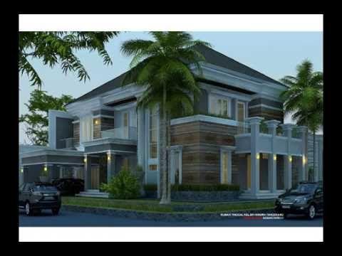 desain rumah kolam renang, kavling hook 25x27m2, 2 lantai