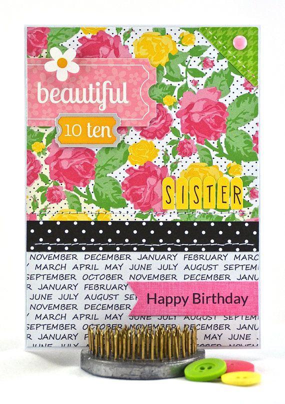 This sister birthday card is the perfect way for a sibling to - double first