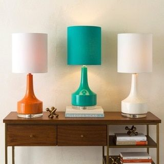 Modern Emily Table Lamp With Glazed Ceramic Base | Overstock.com Shopping    The Best