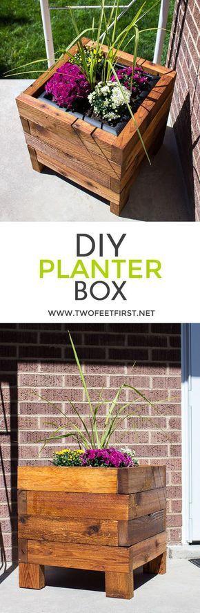 Build A Square Planter Box From Cedar In 2020 Diy Wood Planters Wood Planters Diy Planters
