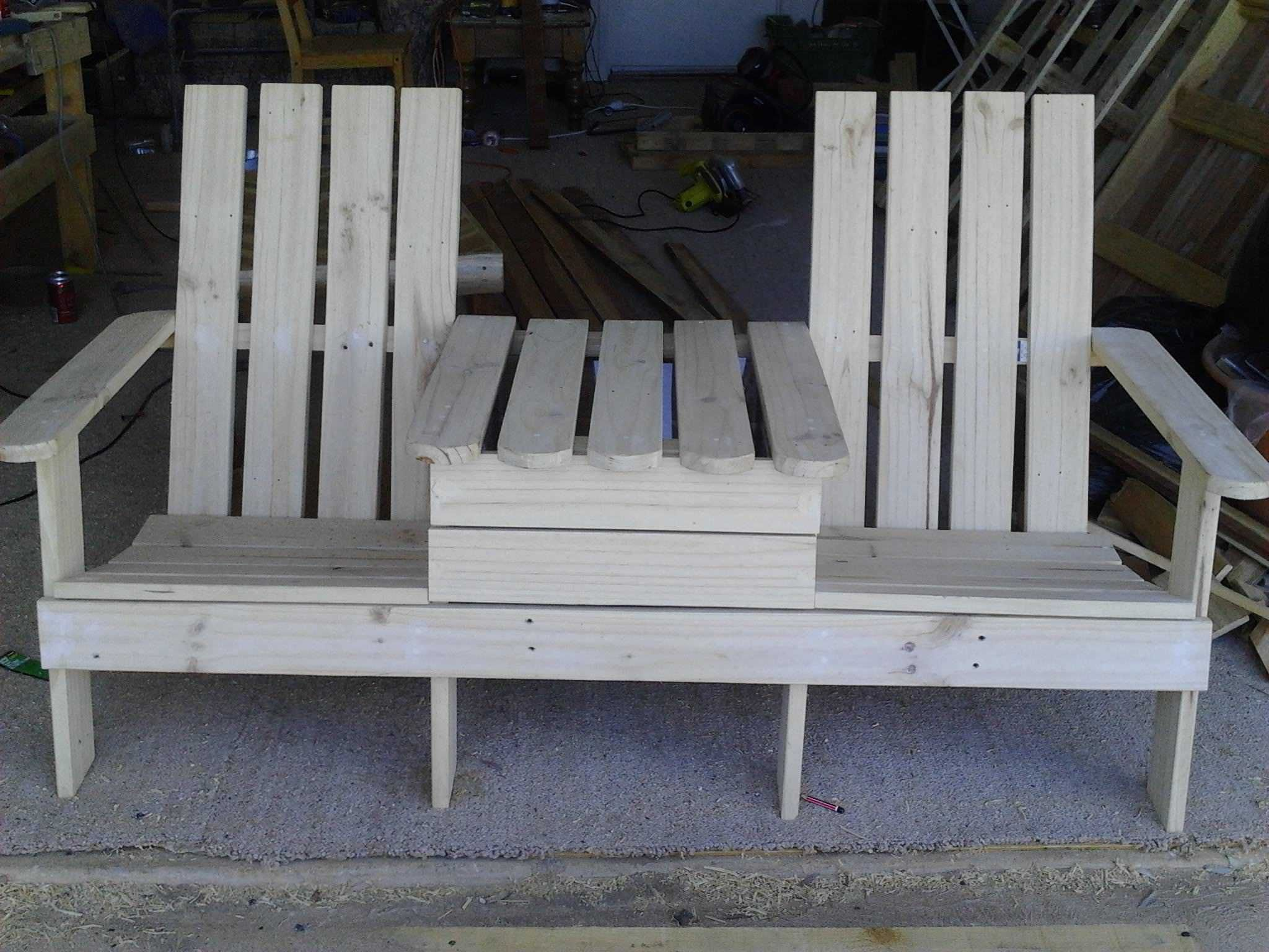 Adirondack Jack & Jill Chair from Pallets | Pallets, Repurposed ...