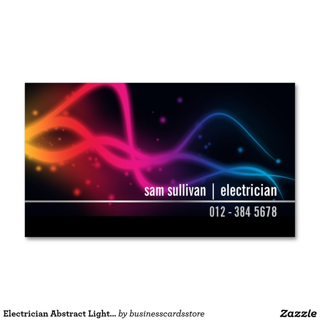 Electrician Abstract Light Beams Trade Skills Double-Sided Standard ...