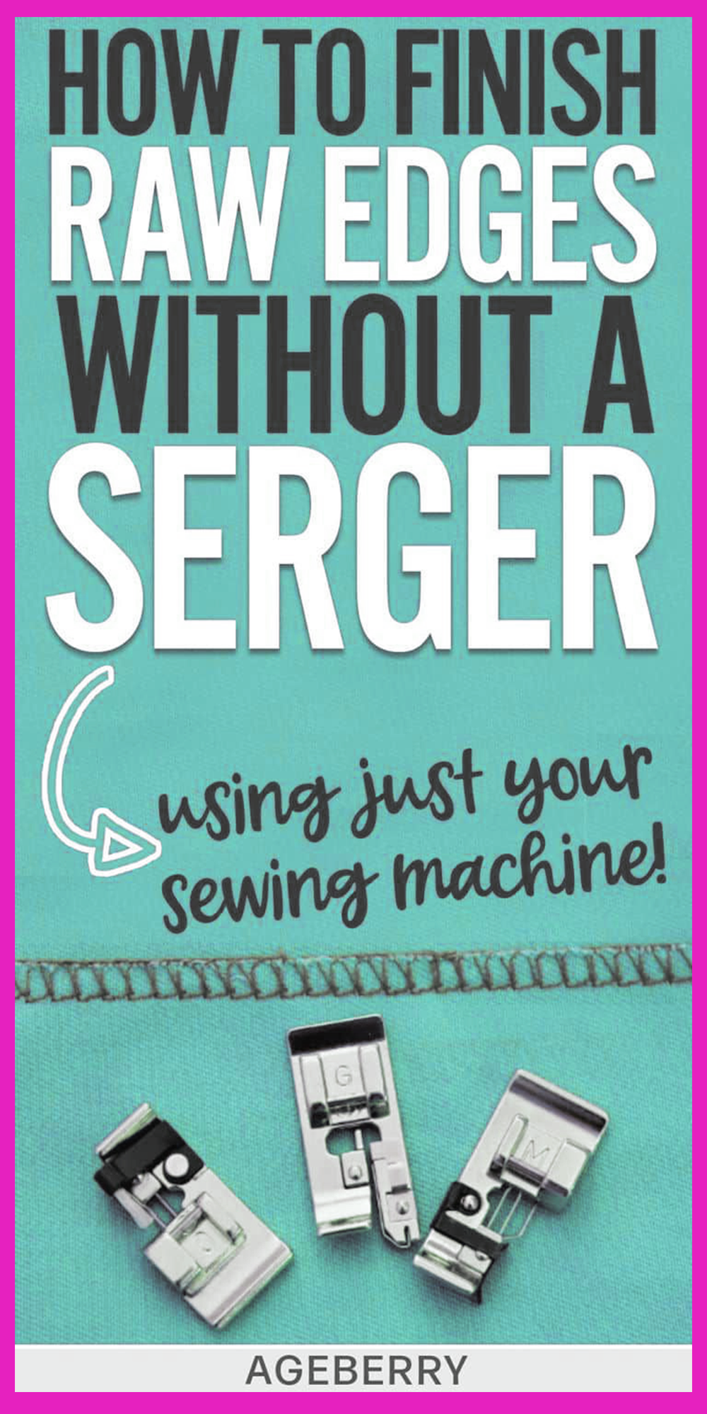 How to use an overlock foot / an overcast stitch for finishing seams without a serger