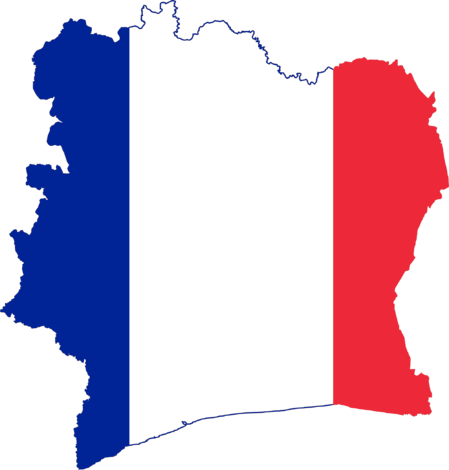 Flag Map Of French Cote Divoire France Gifts Study French French Flag