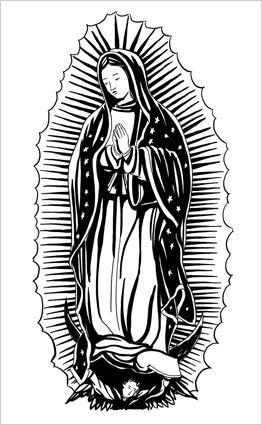La Virgen De Guadalupe Black And White Elojoquepiensa Net Virgen