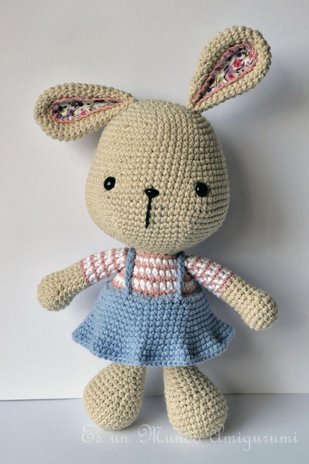 Es un Mundo Amigurumi: Coneja Pascua Grande... | Conejos | Pinterest ...
