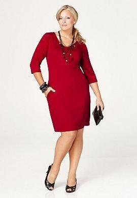 Avenue: Seamed Ponte Dress, $39.90