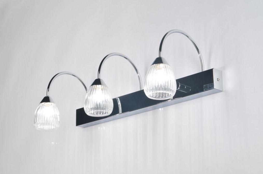Badkamer Wandlamp Chroom : Wandlamp 85393: modern klassiek chroom glas badkamer pinterest