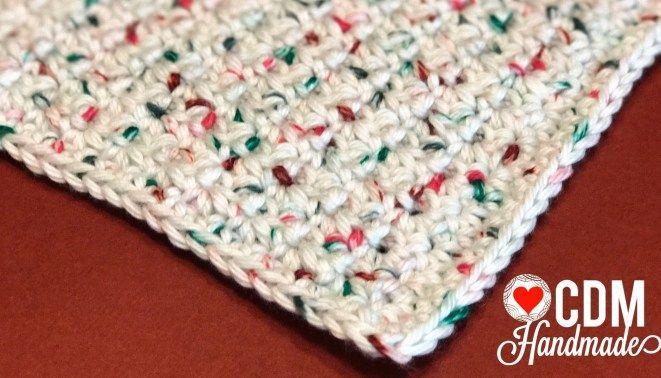 Washcloth Series: Moss Stitch Crochet Washcloth – CDM Handmade...  #CDM #Crochet #Handmade #Moss #Series #Stitch #washcloth