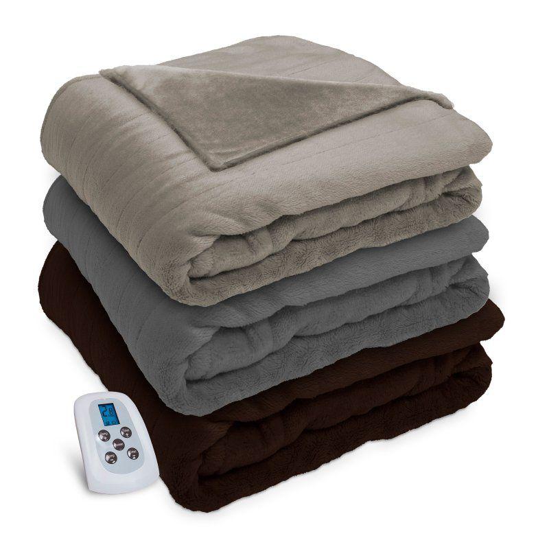 Serta Silky Plush Blanket 850878 Plush Blanket Heated