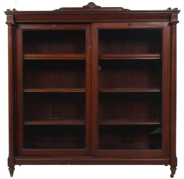 C1900 Classical Revival Bookcase Lbl Paine Furniture Co