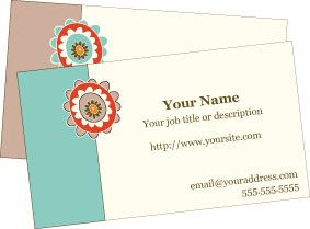 Awesome retro bloom free printable business cards free printable free printable business cards reheart Gallery