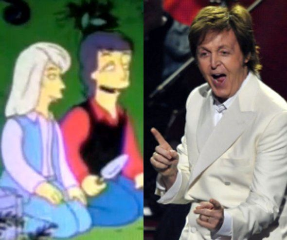 """Season 7, Episode 4 """"Lisa the Vegetarian"""": Paul McCartney and his wife Linda made appearances as themselves when Lisa ran off to become a vegetarian."""