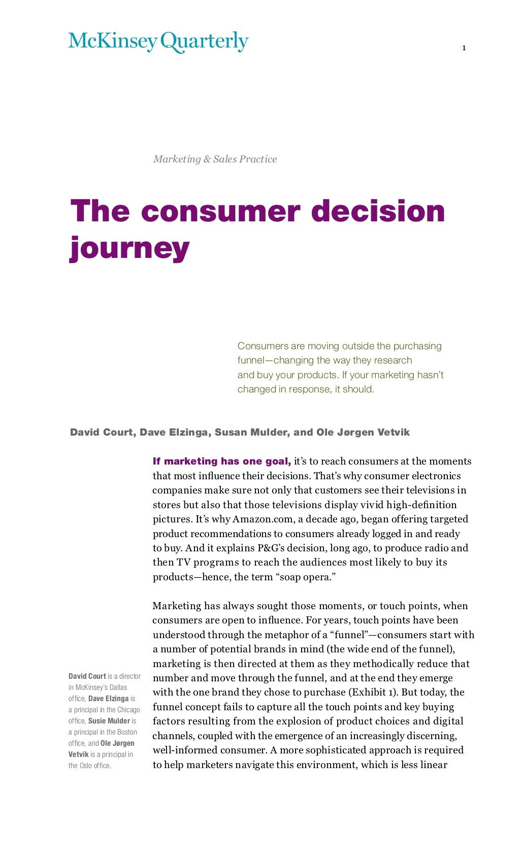 mckinsey-theconsumer-decision-journey by Fred Zimny via Slideshare