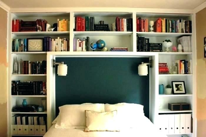 Bookshelf Bedroom Set With Bookcase Headboard Youth Bed Furniture Book Shelf Wall