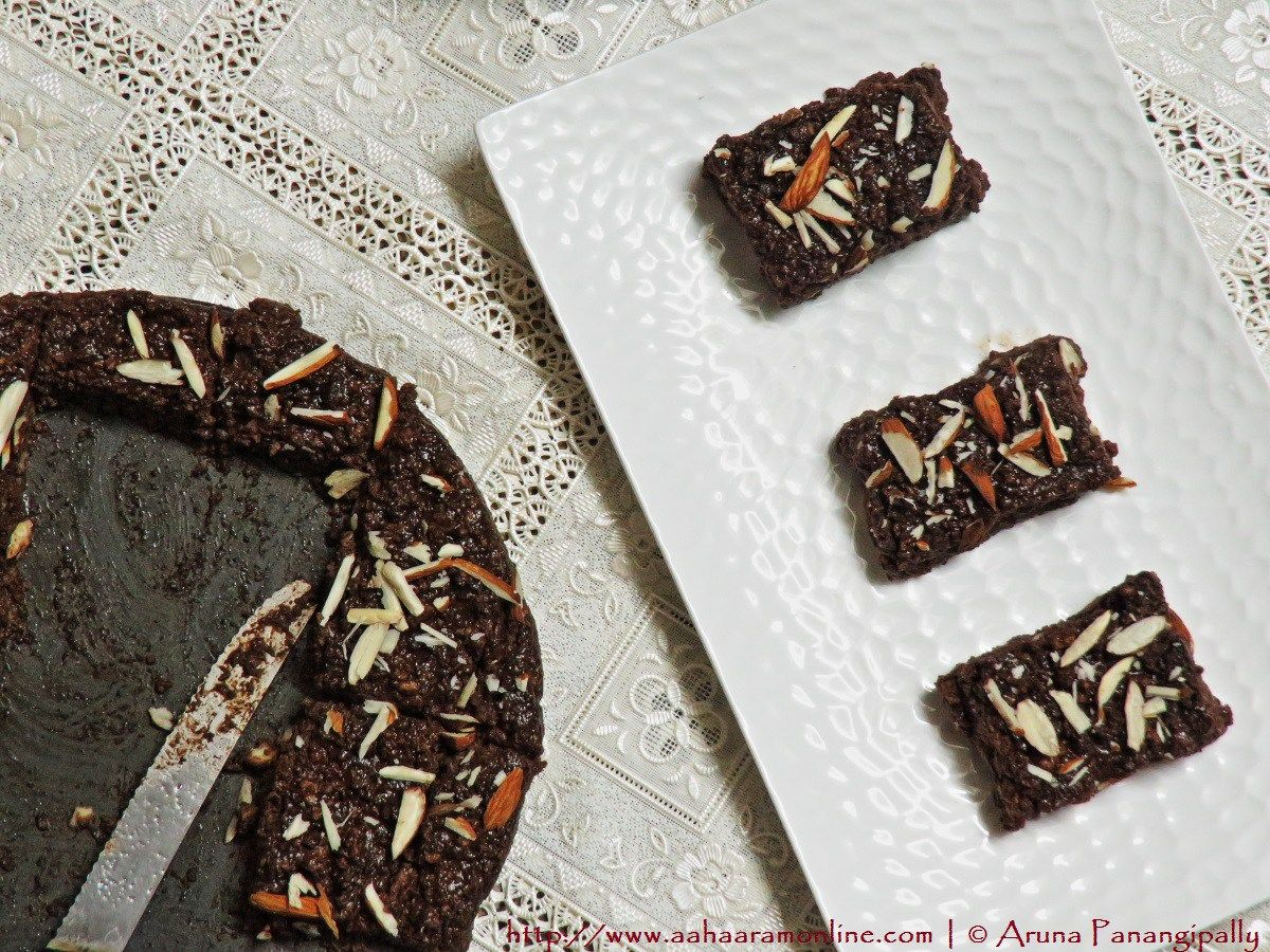 Quick And Easy Chocolate Kalakand With Condensed Milk Aharam Easy Chocolate Delicious Chocolate Andhra Recipes