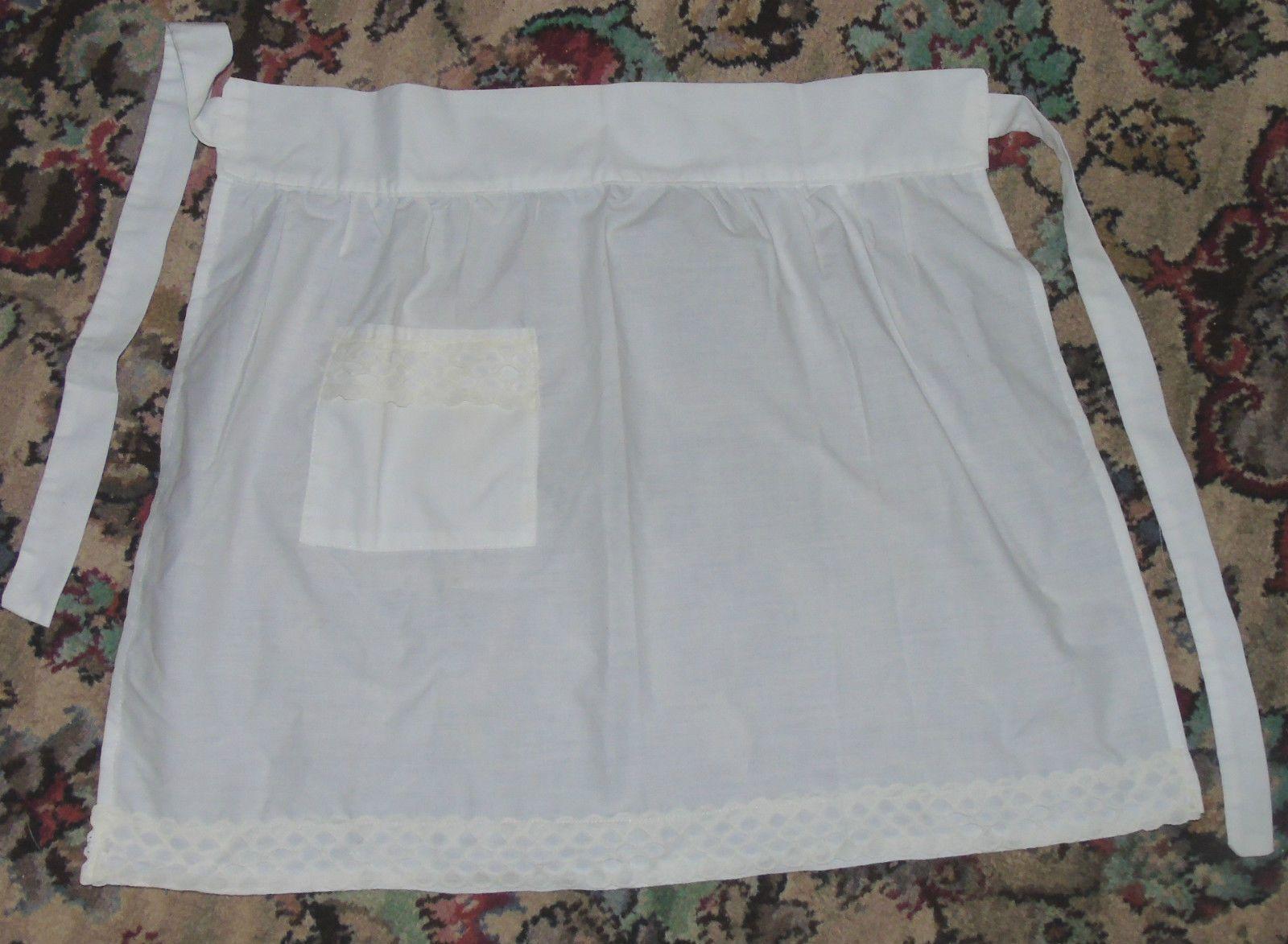 White apron ebay.ca - Pretty White Apron Retro Vintage Aprons Piny Selection Of Designs Ebay