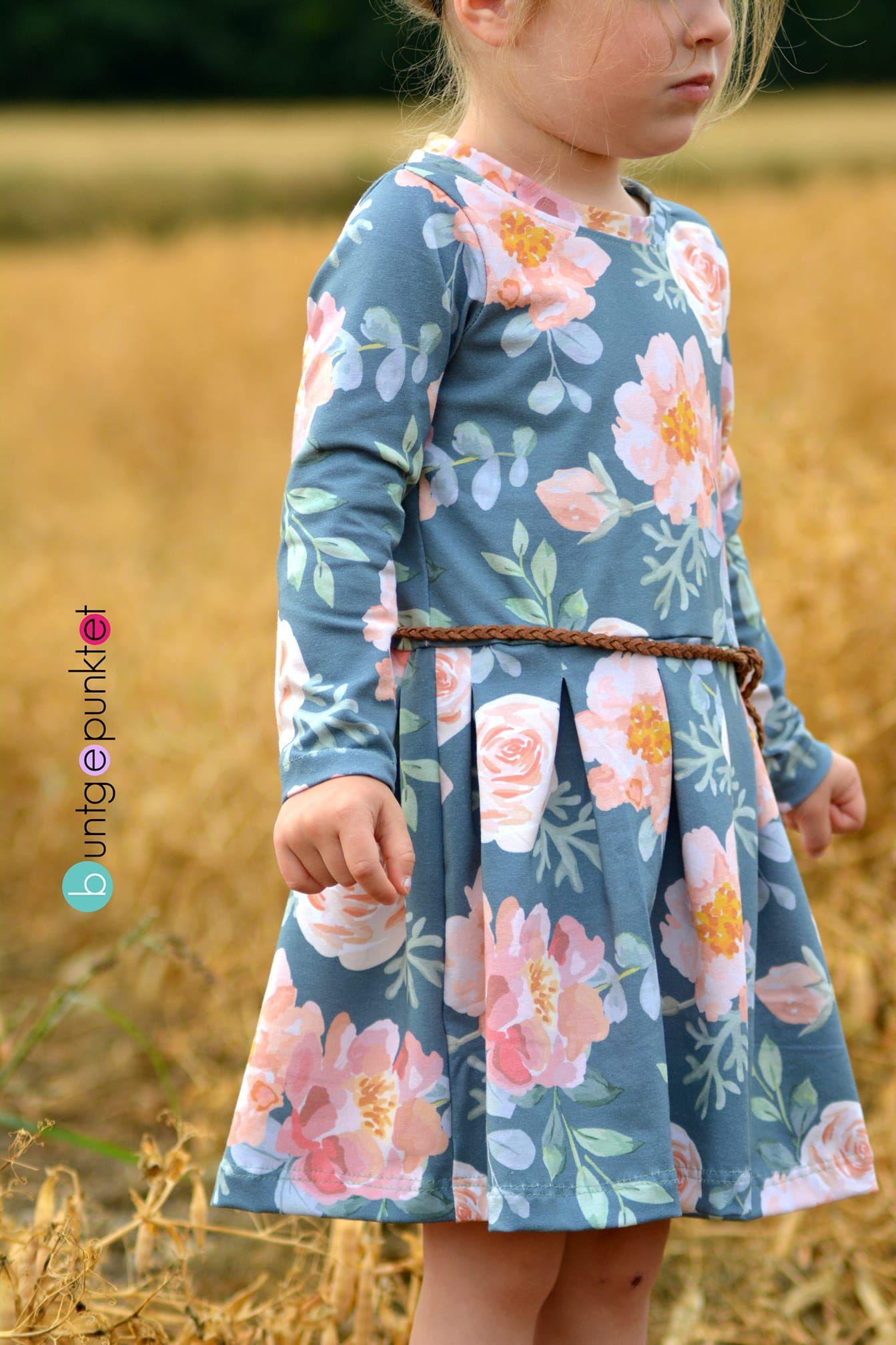 Mädchen Kleid Langarm Nähen - Mode Gehen