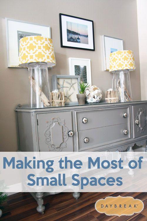 Decoração de todo o apartamento http://www.daybreakutah.com/whats-happening/home-design/making-small-spaces/