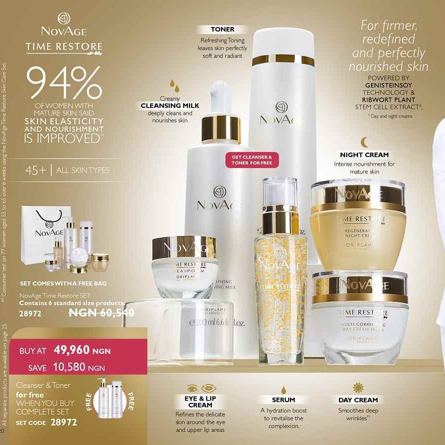 Novage time restore set for a firmer redefined and