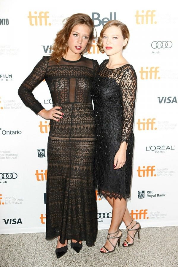 Tiff 2013 Blue Warmest Color Red Carpet In 2020 Blue Is The