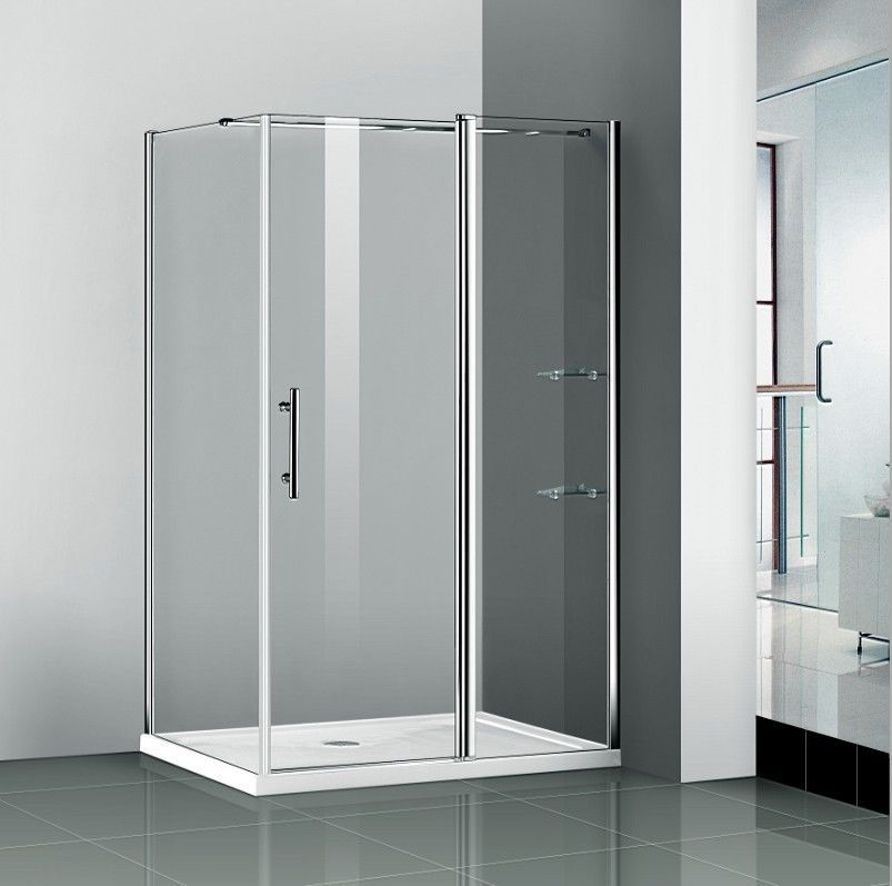 Details About Walk In Chrome Pivot Shower Door Enclosure Frameless Screen Stone Tray Shower Doors Shower Enclosure Walk In Shower Enclosures