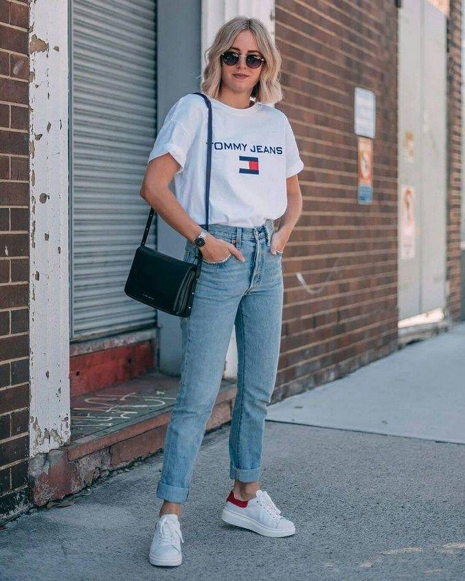 10+ Inspirierende Boyfriend Jeans Outfits Fashion Girls für den Alltag #dailyou…
