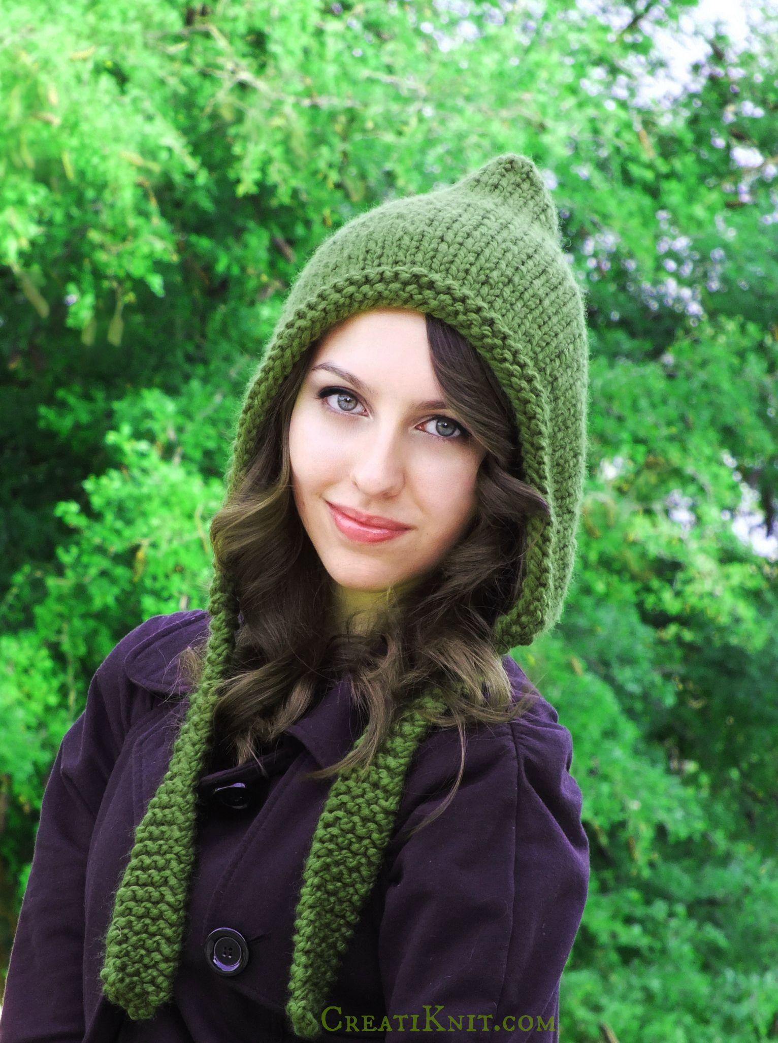 Sprinkle magic   fun into your wardrobe with this Pixie Hood knitting  project! Such an easy   fast knit 74382f35641