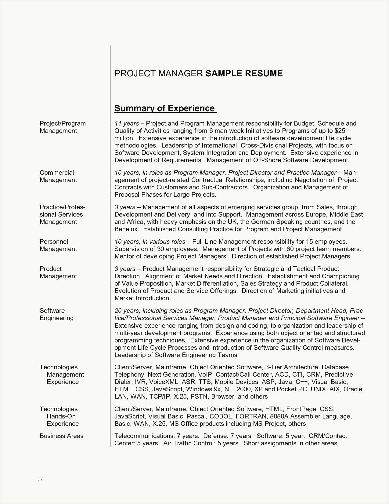 52 free project manager resume summary gallery in 2020