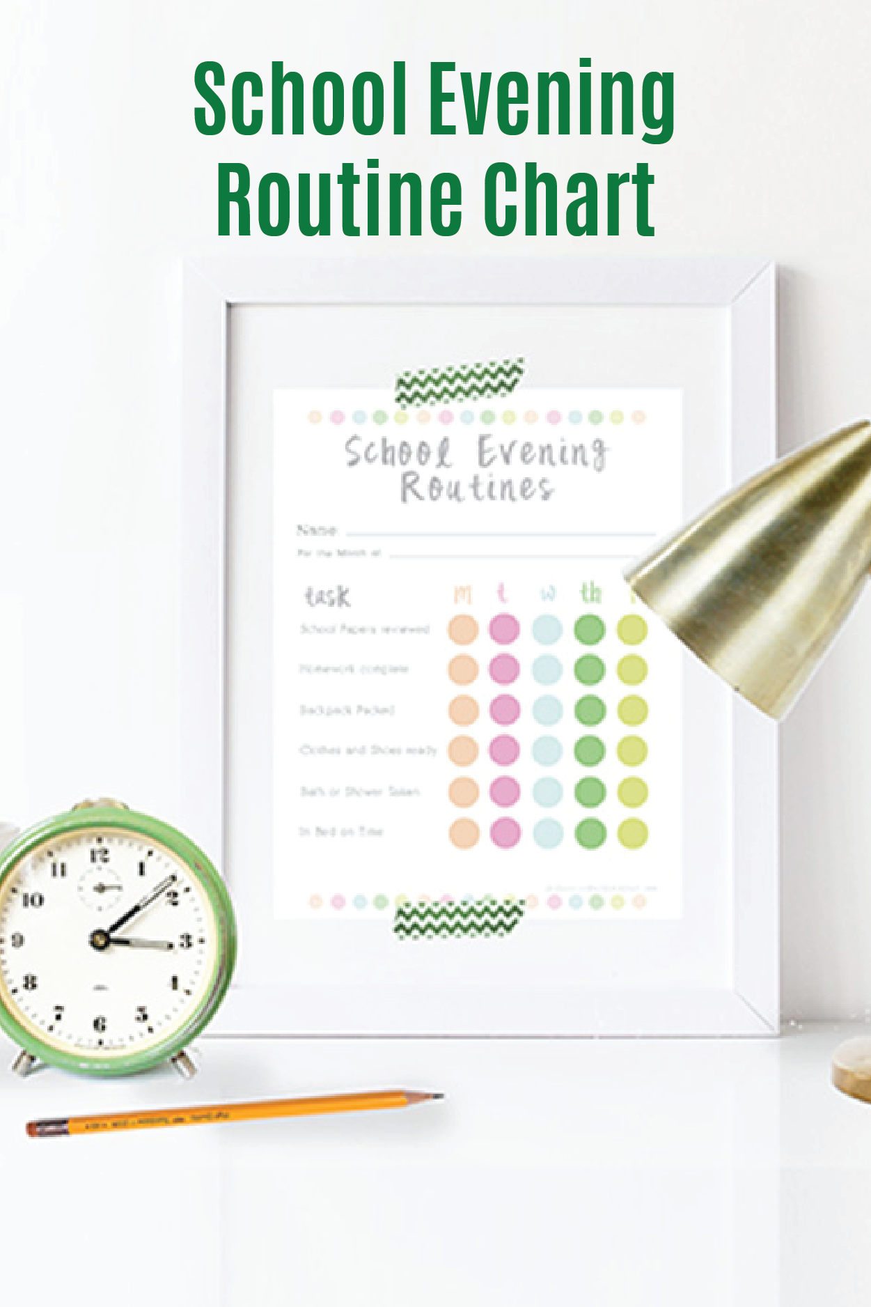 School Evening Routine Chart