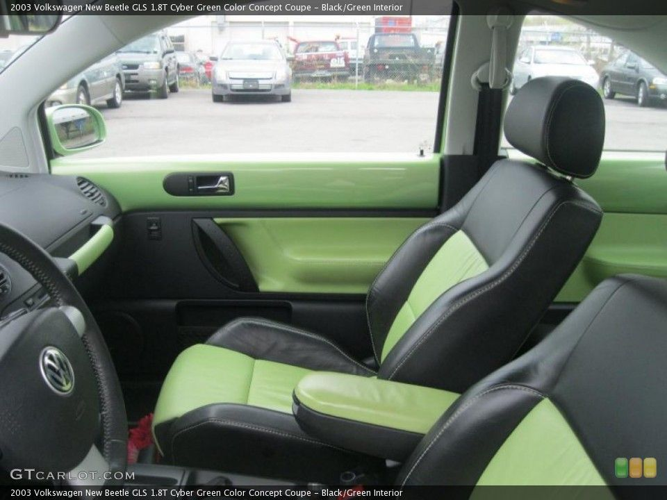Black Green 2003 Volkswagen New Beetle Interiors Black Mint Green 2003 Volkswagen New Beetle Interior Lime V Volkswagen New Beetle New Beetle Vw Beetle Turbo