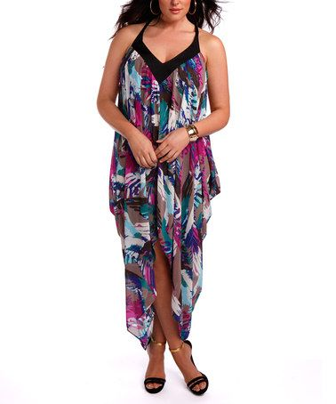 2d332d169ab Take a look at this Birds of Paradise Cover-Up Maxi Dress - Plus by Sorella  Swim on  zulily today!  Rocqi Taylor