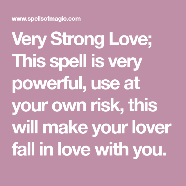 Very Strong Love - Free Magic Spell | Wiccan | Strong love
