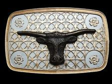 MF11170 VINTAGE 1970s **CATTLE HEAD** WESTERN & COWBOY BELT BUCKLE