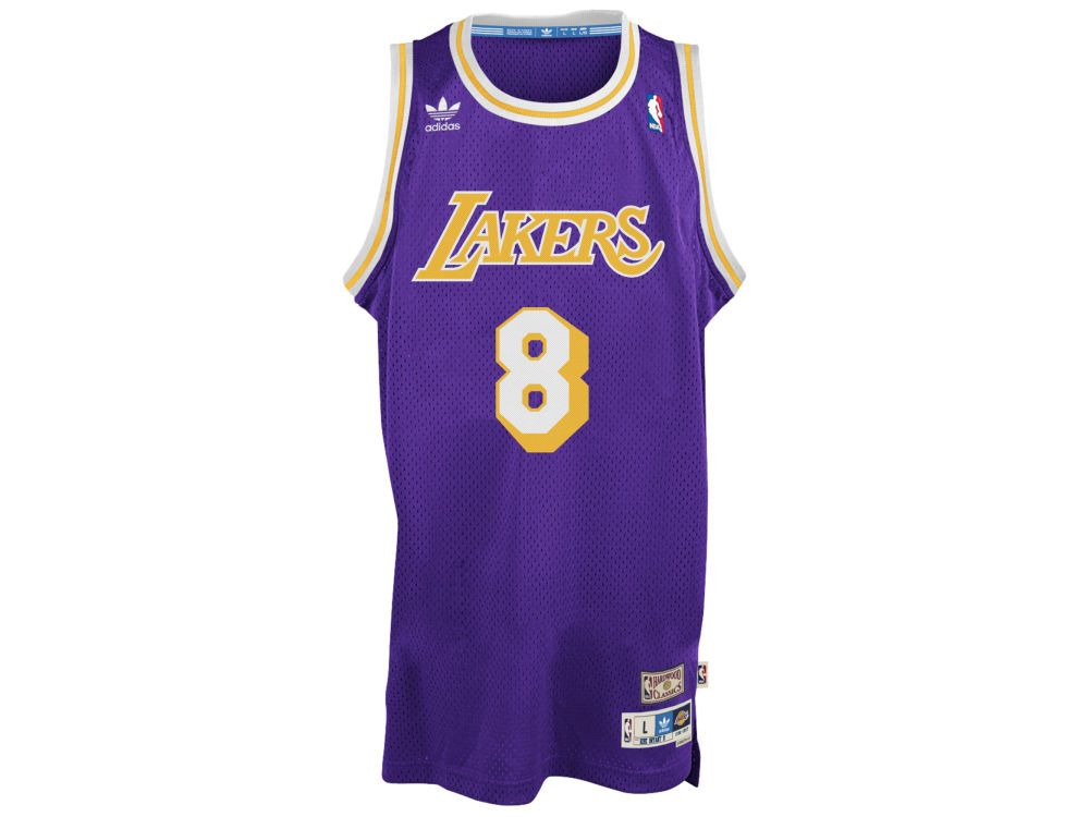 Los Angeles Lakers Kobe Bryant Adidas Originals Nba Retired Player Swingman Jersey With Images Kobe Bryant Kobe Bryant Los Angeles