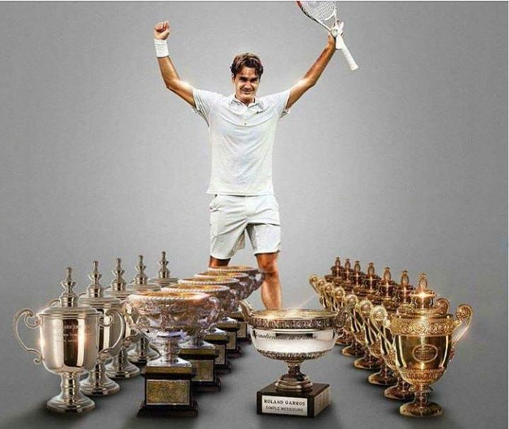 Roger Federer's trophies of grand slam ! | Roger federer, Tennis champion,  Tennis legends