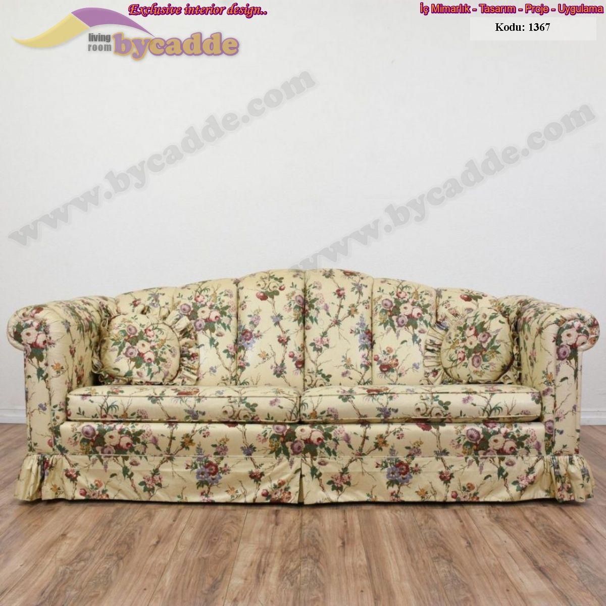 p kollu cicek motifli yazlik etekli koltuk vintage sofa koltuklar cicek
