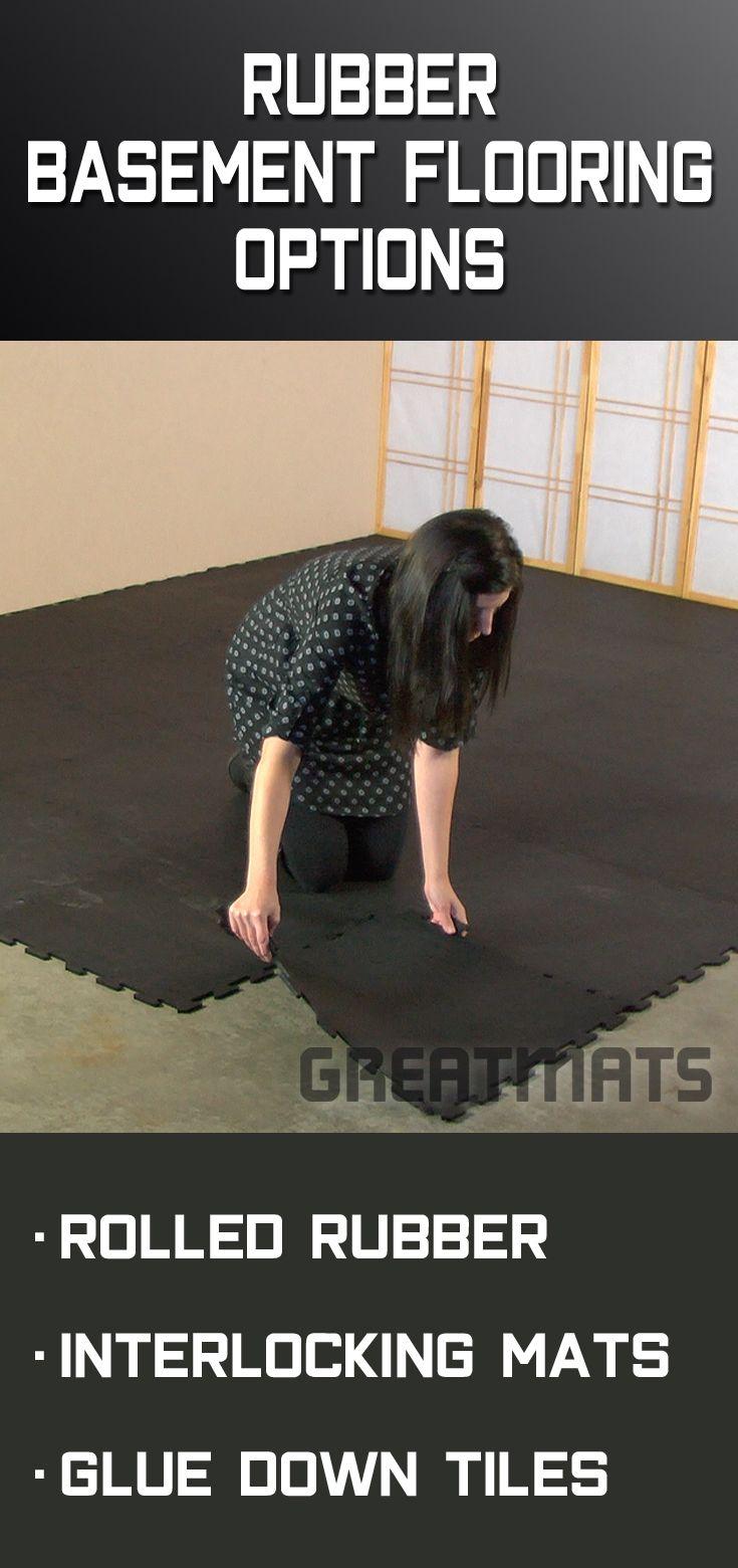 Rubber Flooring Rolls 1/4 Inch Regrind Confetti Basement