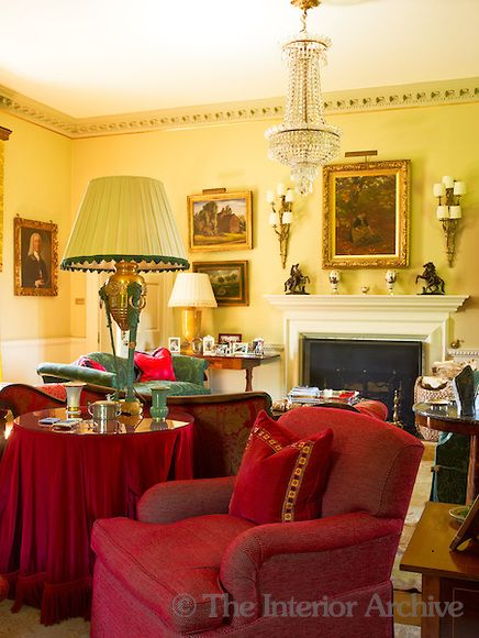 The pale walls of the drawing room are the perfect backdrop for a ...