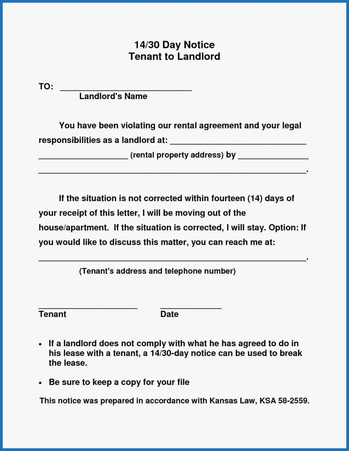 Browse Our Printable Sample 30 Day Notice To Landlord Template Being A Landlord Lettering Letter Templates