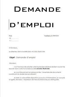 8 demandes manuscrites de recrutement en word doc ...