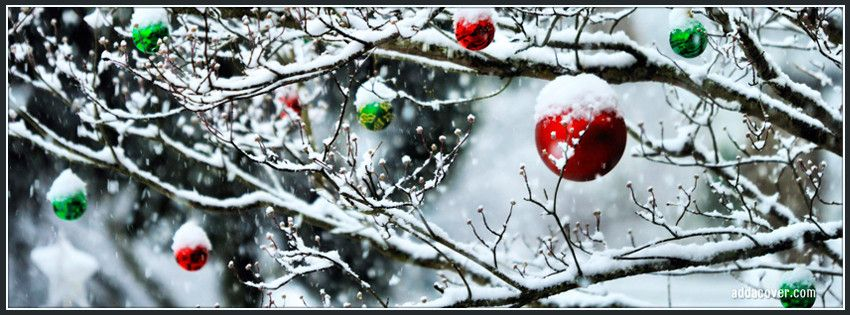 Ornaments on a Tree Facebook Cover                                                                                                                                                                                 More #christmascoverphotosfacebook