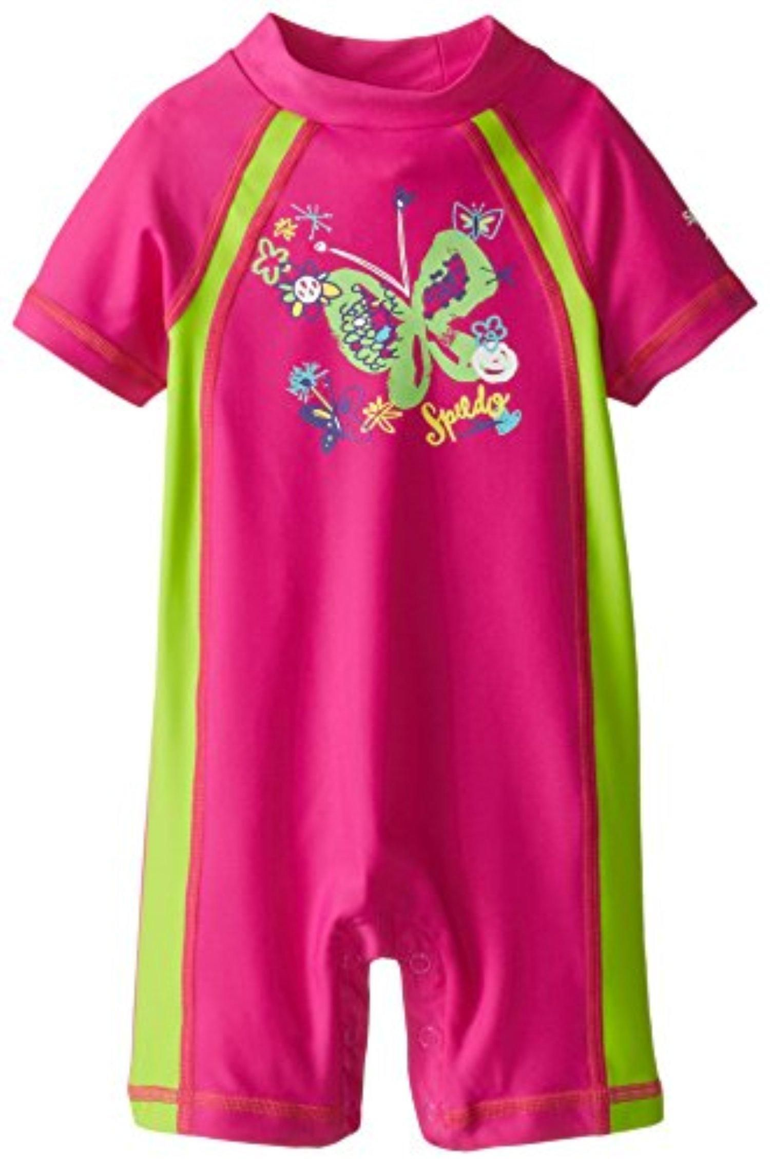 b2c1f96679 Speedo Little Girls' Begin To Swim UV 50+ Toddler Sun Suit, New Blush, 2T -  Brought to you by Avarsha.com